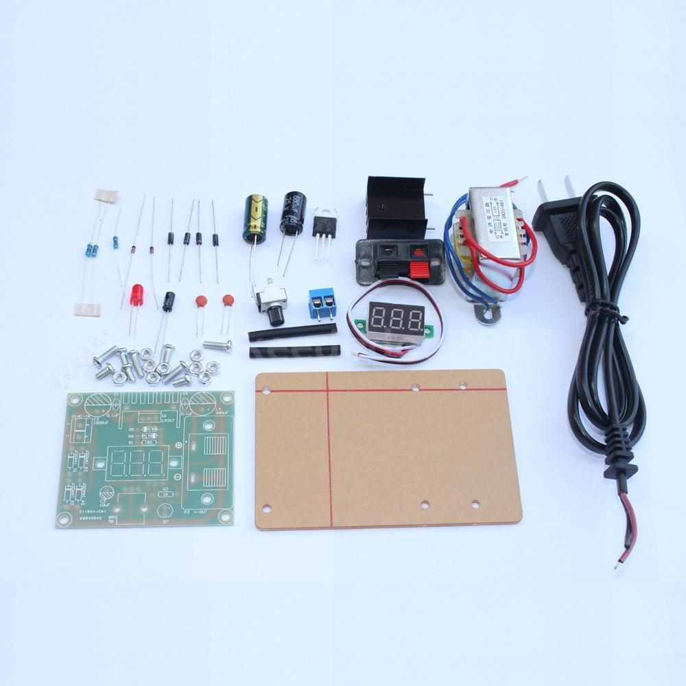 Adjustable Ac To Dc Regulated Power Supply Module Diy Kit Lm317 125 12v Battery Charger Circuit Batterycharger Powersupplycircuit 1 25 Ca F2t4