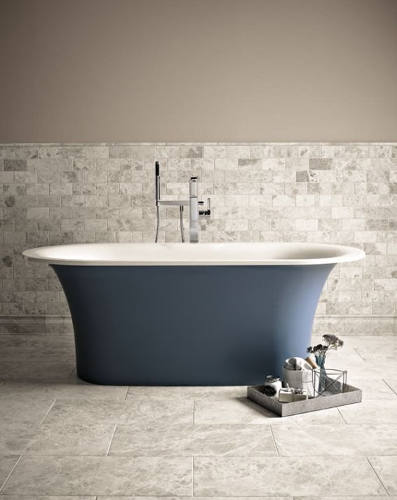 Bath Paint Colour - Tempest by Fired Earth | Tile bathroom ...