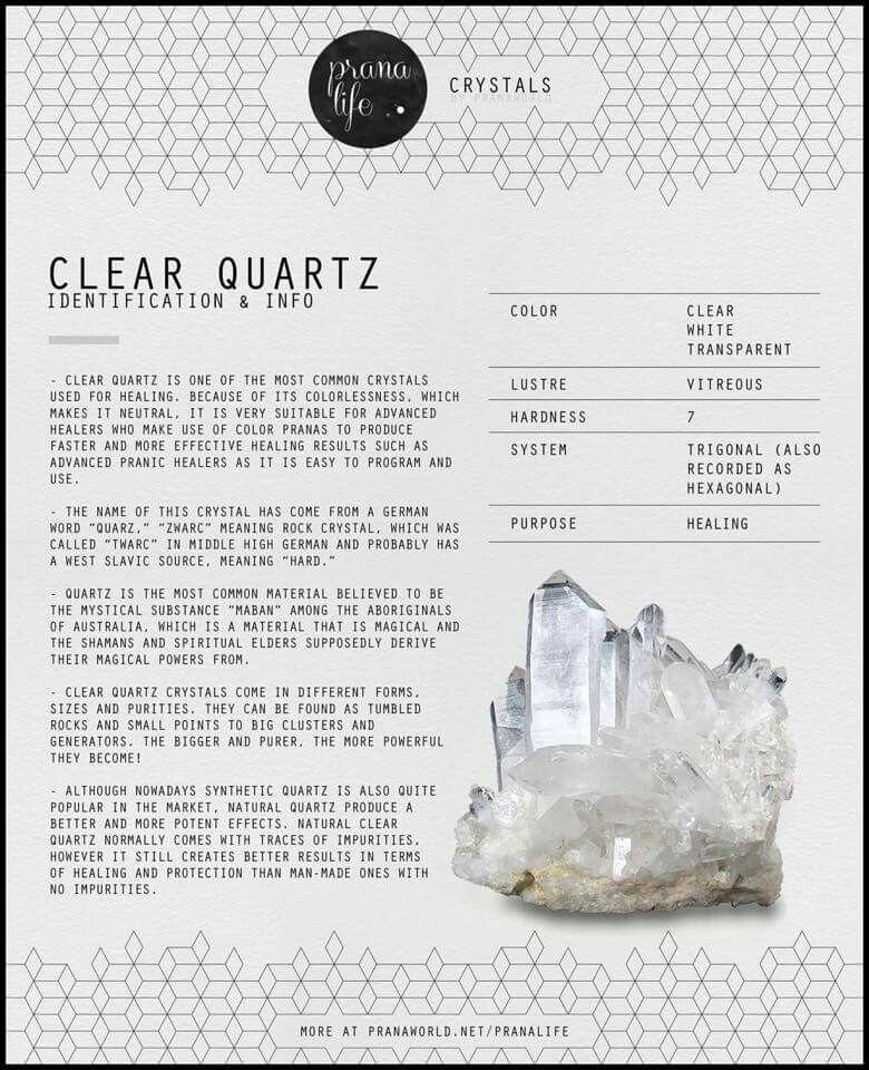 Clear Quartz Crystals minerals, Crystals, Energy crystals