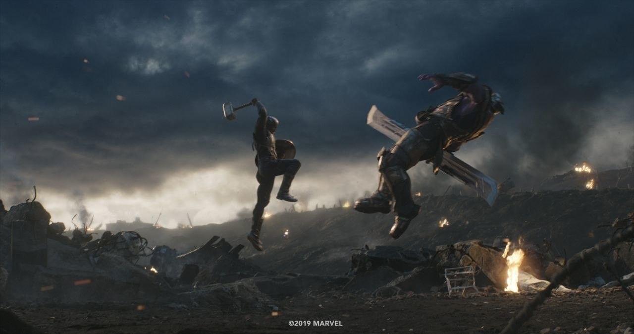 Cap vs Thanos. Die rächer, Marvel, Captain america