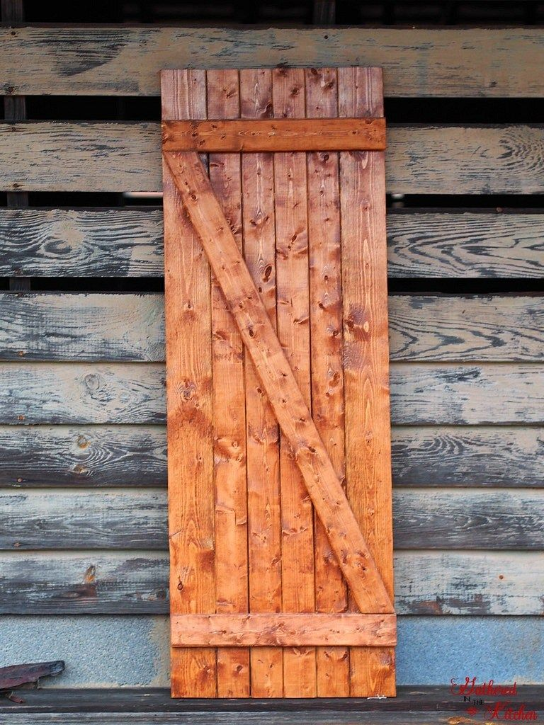 DIY Barn Door Under $10 in 30 Minutes images