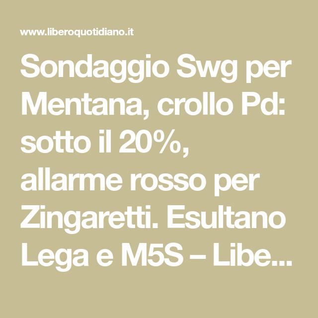 Sondaggio Swg per Mentana, crollo Pd: sotto il 20%, allarme rosso per Zingaretti. Esultano Lega e M5S – Libero Quotidiano