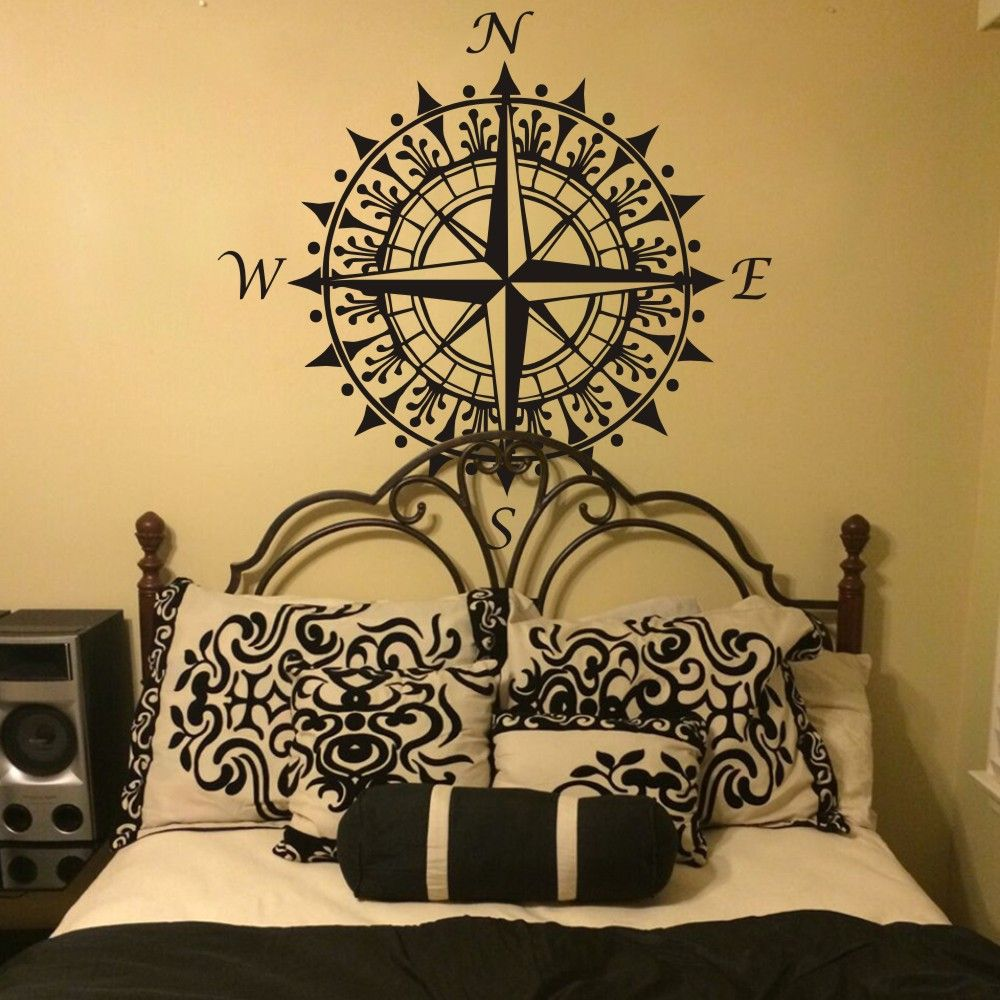 Nautical compass wall decal vinyl wall art graphic sticker home