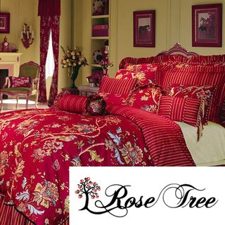Overstock Rose Tree St Martin 39 S Lane King Size 4 Piece Comforter Set Give Your Bedroom A