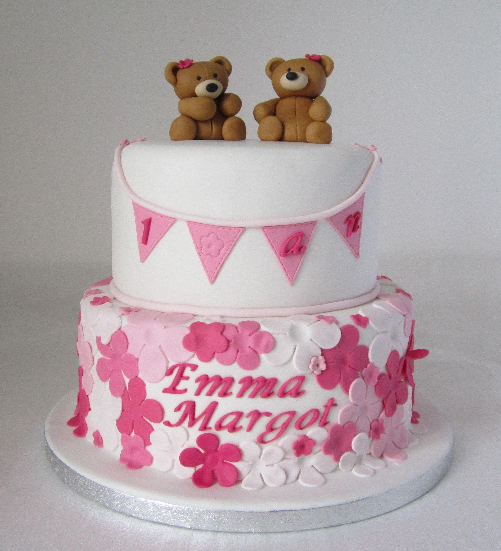 cake design gâteau personnalisé en pâte à sucre sur le thème ours