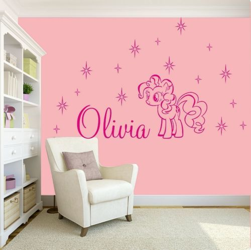 Best Girls Name Bedroom Wall Art Decal Sticker My Little Pony 400 x 300
