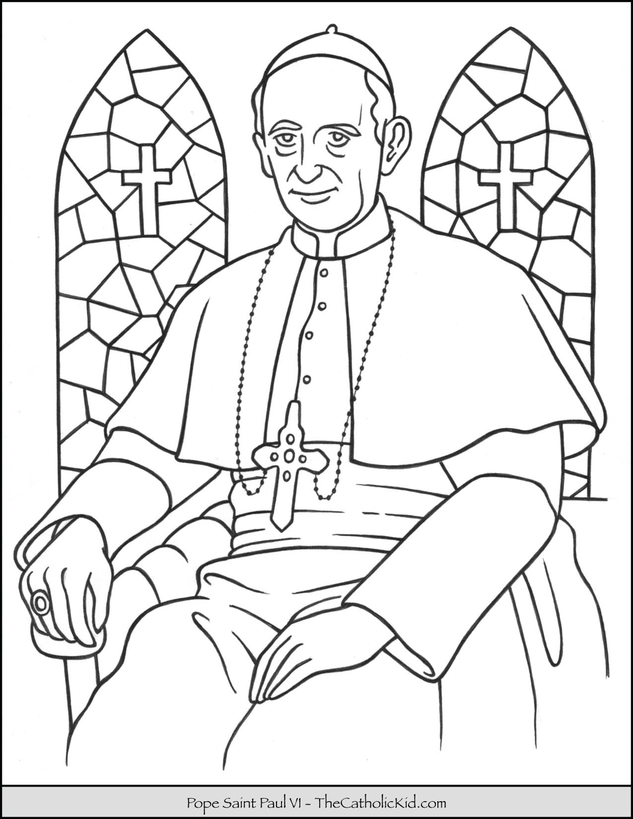 Pope Saint Paul VI Coloring Page Born September 26th 1897