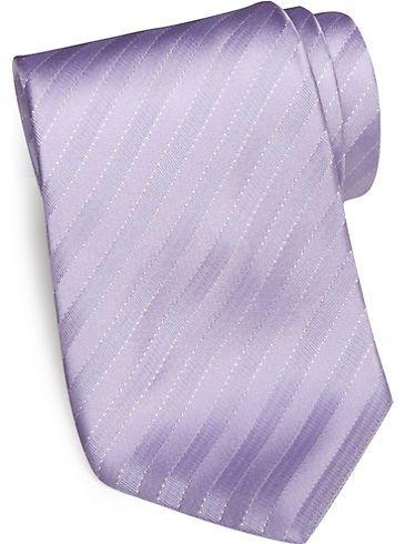 fc787a02e976 Ties - Sean John Lilac Stripe Silk Tie - Mens Wearhouse | Wedding ...