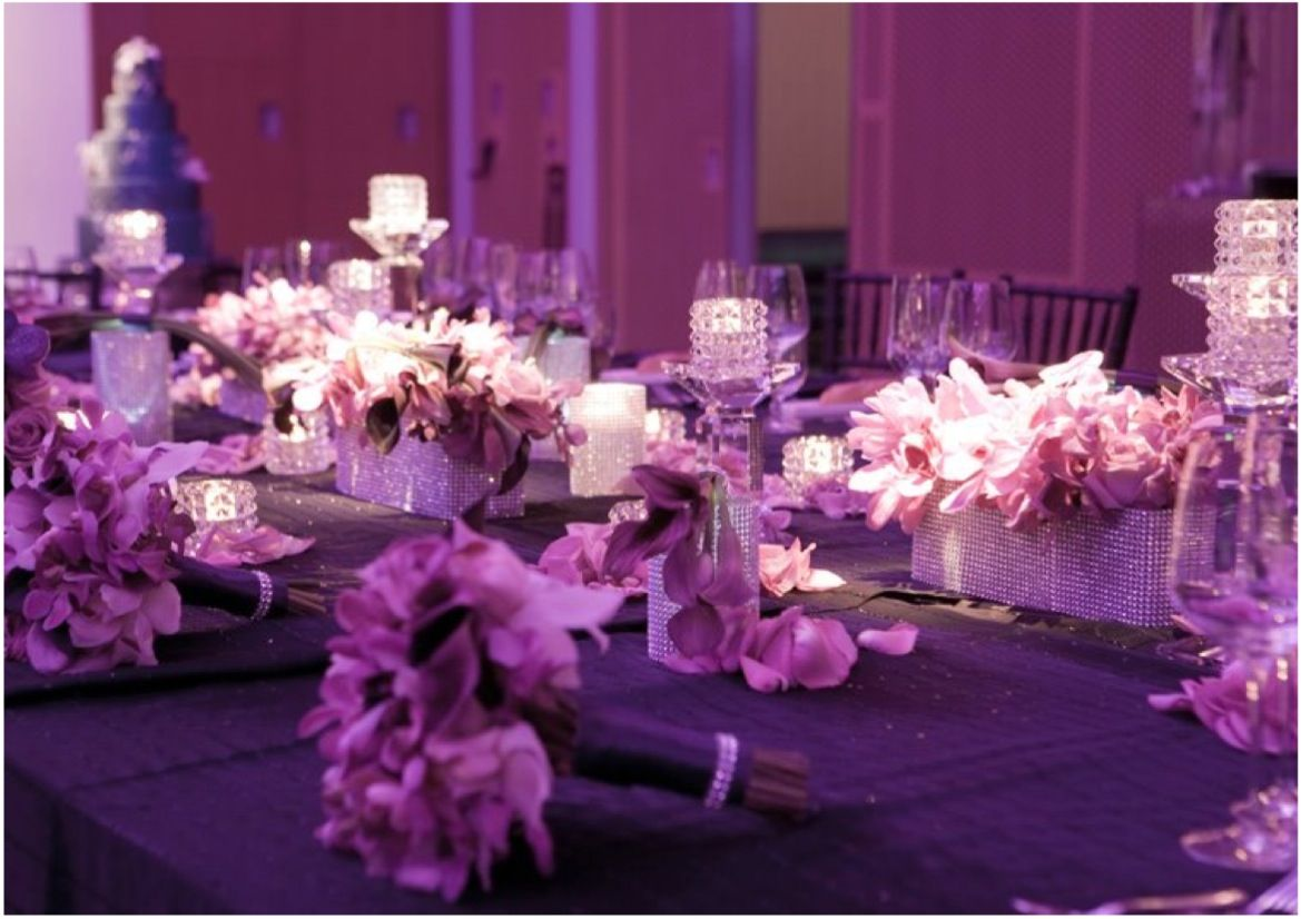 wedding reception ideas the essence of purple