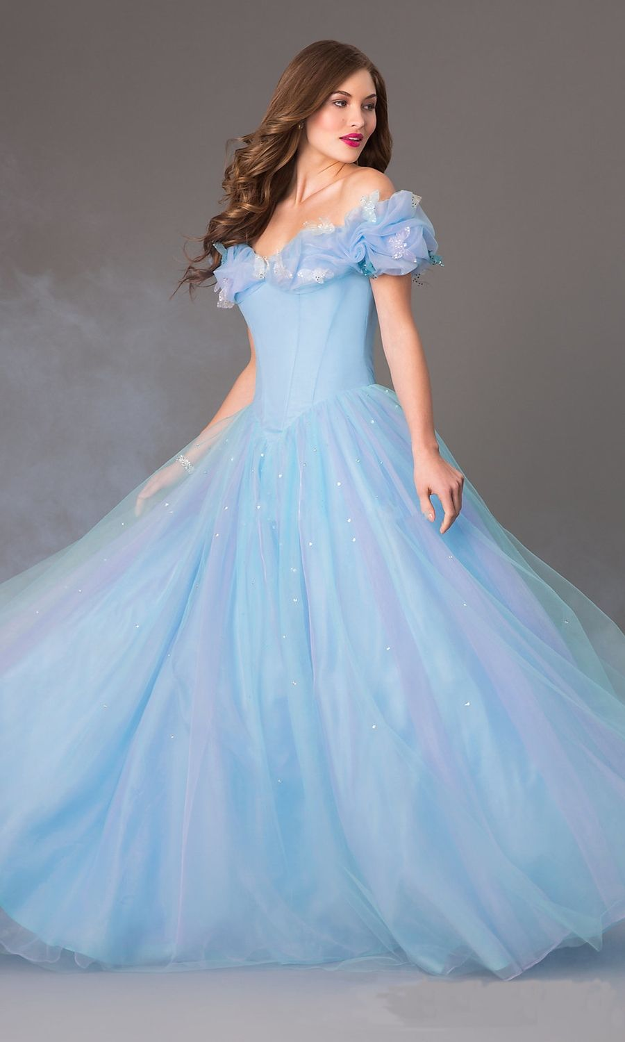 Princess Look off-the-Shoulder Ball Gown Styling – Designers Outfits ...