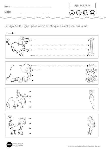 super contenu sur graphisme les lignes horizontales fiche imprimer animaux et repas 2. Black Bedroom Furniture Sets. Home Design Ideas