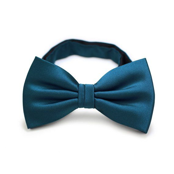 dc02d4d1ae97 Peacock Bow Tie | Men's Bow Tie in Dark Teal Blue | Bow Tie Matching Oasis,  Teal, Peacock - pre-tied