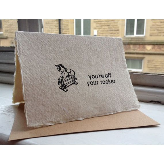 You're off your Rocker greetings Card £3.00