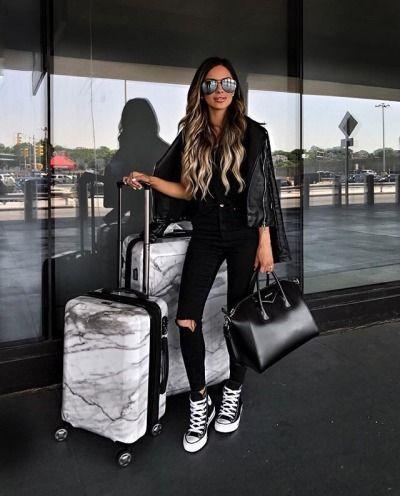 beautiful hair | Tumblr | Salju in 2019 | Airplane outfits ...