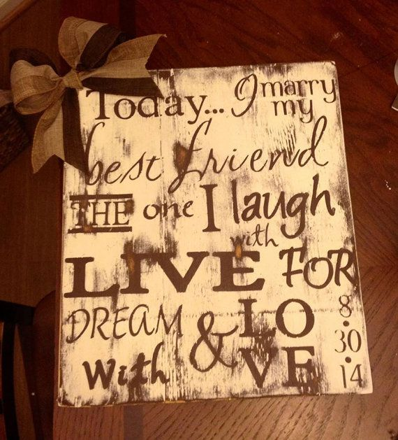 Wedding Anniversary Sign with a Burlap bow by LECreations14, $40.00