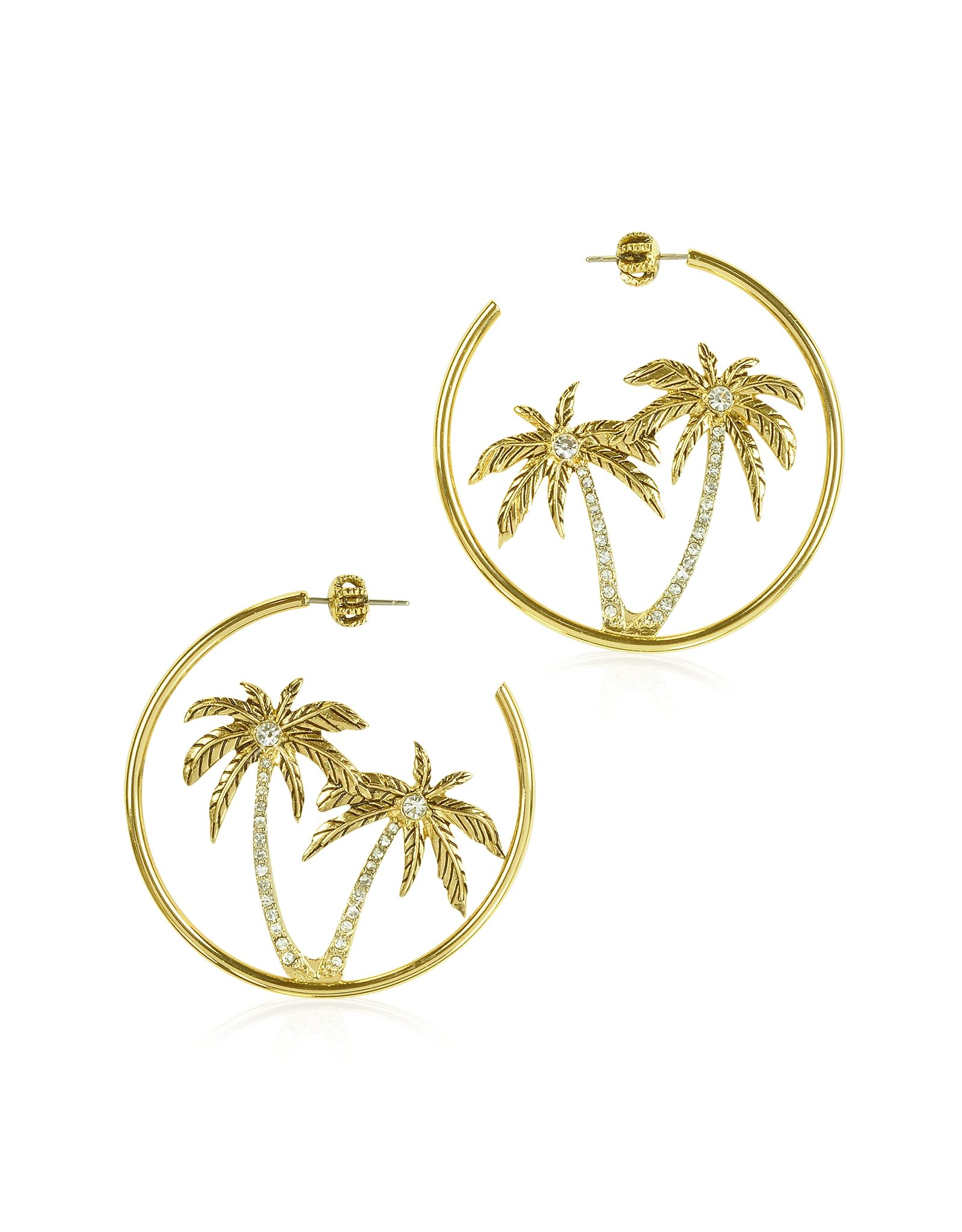 77825f412c5cf Juicy Couture Palm Tree Hoop Earrings - FORZIERI | Bought it, Have ...