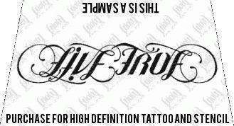 Ambigram Live True Love Life Ambigram Ambigram Tattoo Generator