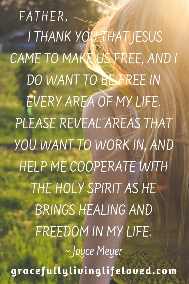 Be set free! Joyce Meyer #bestversionofyou #worhty #enough