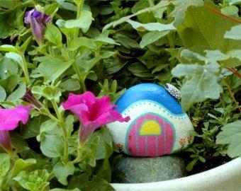 Bumble Bee Painted Rocks Summer Garden Yellow Black Honey Bee Whimsical  Garden Decor Fairy Garden Accessory Ooak 3D Art Object Rockartiste