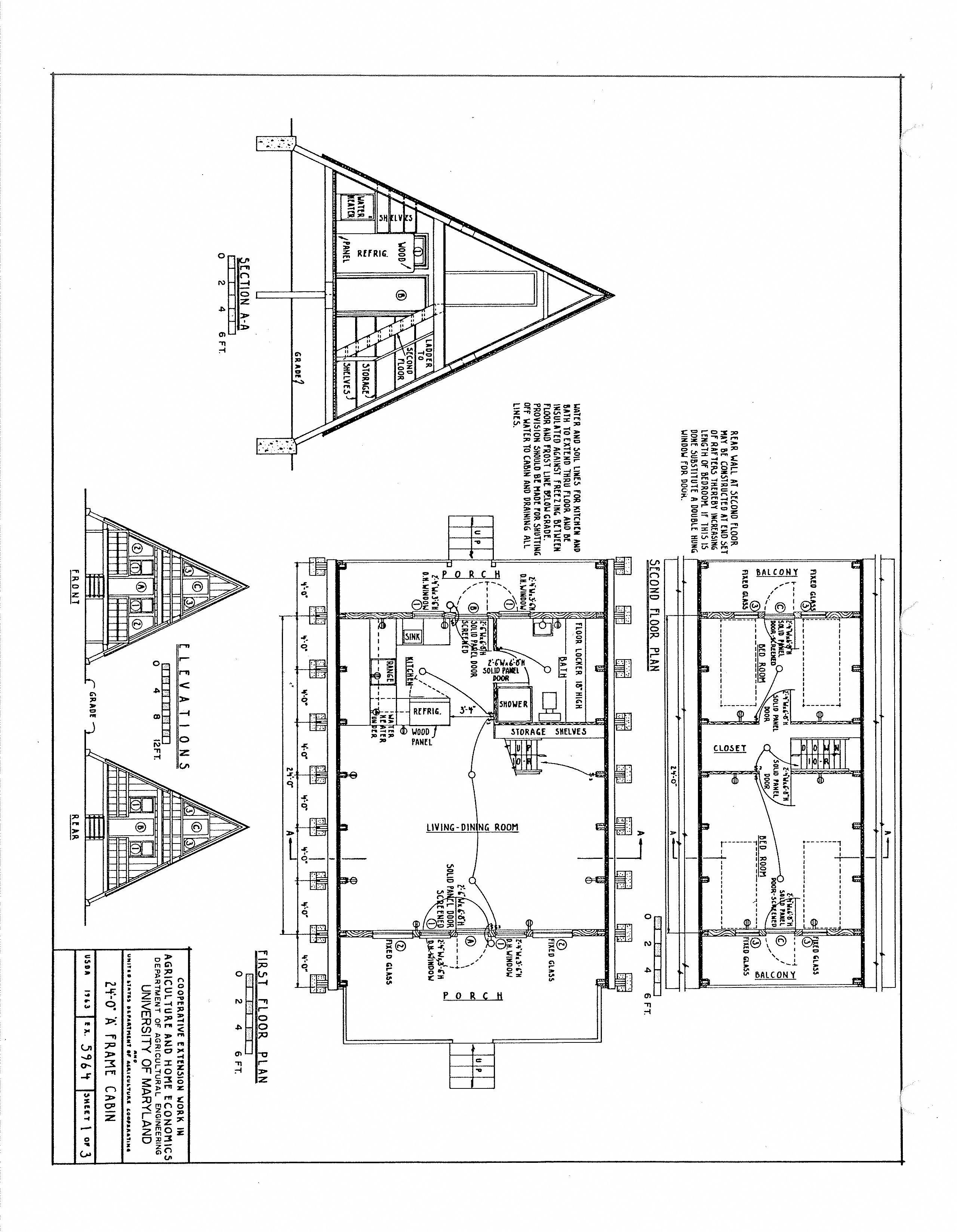 Free A Frame Cabin Plans Blueprints Construction Documents Sds Plans A Framehouse A Frame House Plans A Frame Cabin Plans A Frame House