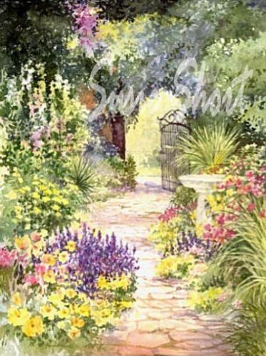 Watercolor Garden : watercolor, garden, Watercolor, Gardens, Flower, Garden, Paintings, Susie, Short, Painting,, Watercolor,, Flowers