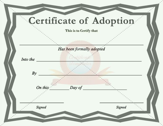 Adoption certificate certificate template pinterest adoption adoption certificate yadclub Choice Image