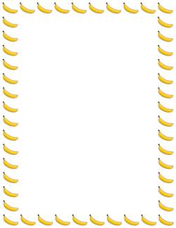 banana border write