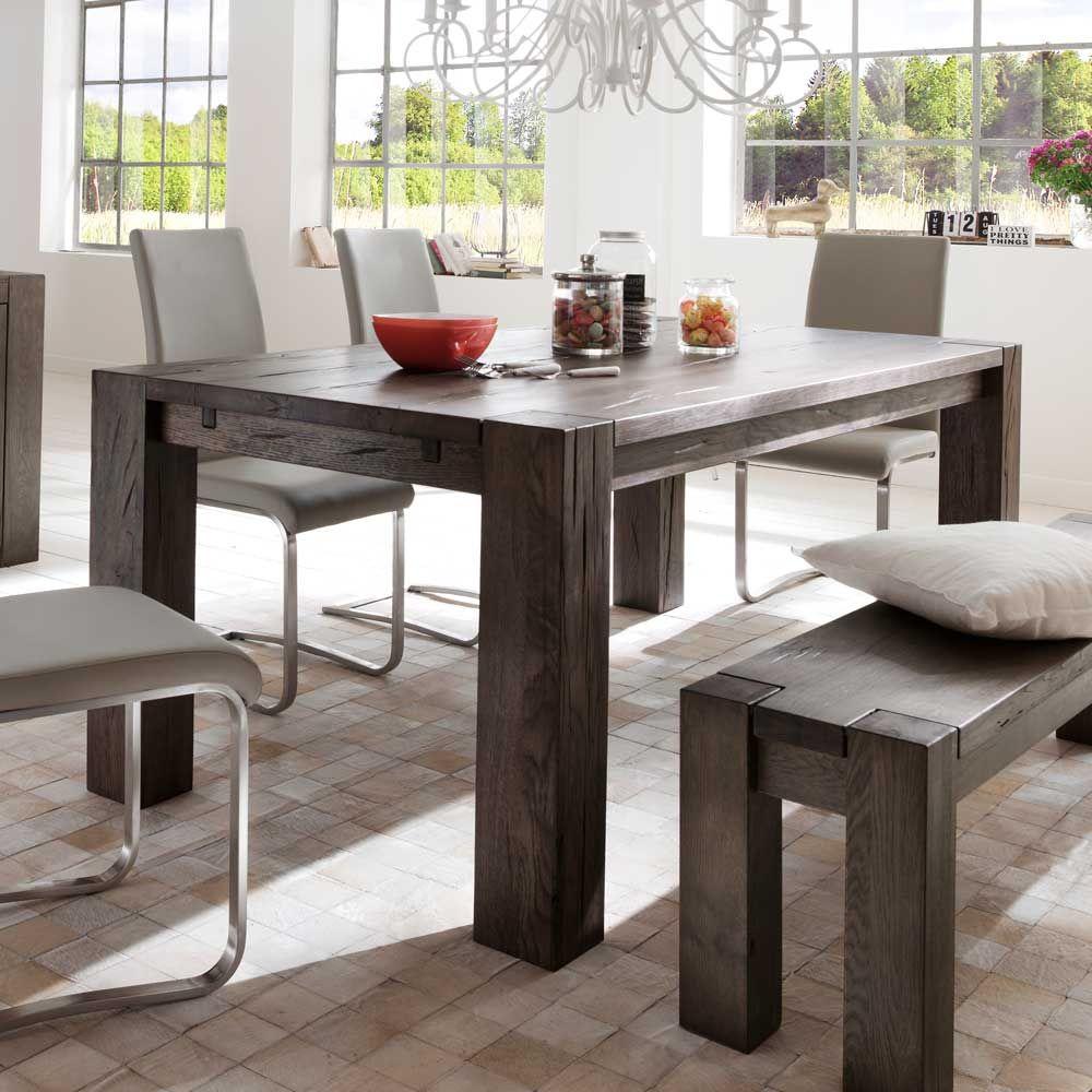 Esstisch Aus Eiche Massiv Verwittert Holztisch ,massivholztisch,küchentisch,esszimmertisch,holztisch Massiv,