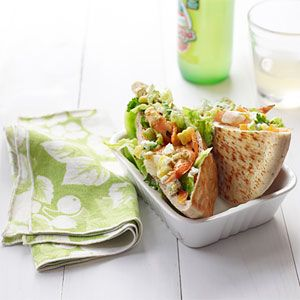 Shrimp Taco Pocket Sandwiches. Put a #Mexican-inspired twist on your lunch this week!
