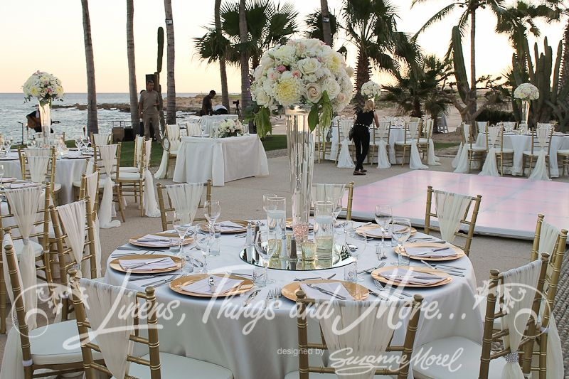 Reception Wedding Decor Blush And Gold Cabo