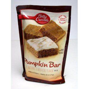 Betty Crocker Pumpkin Bar mix