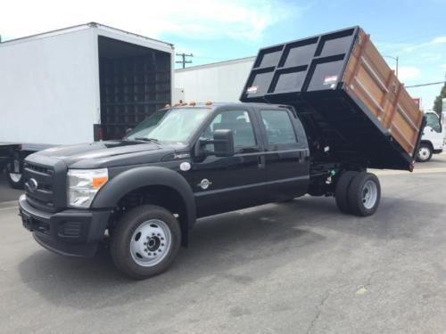 2015 Ford F 450 Xl 4x4 Crew Cab Dump Truck Landscaper Brand New