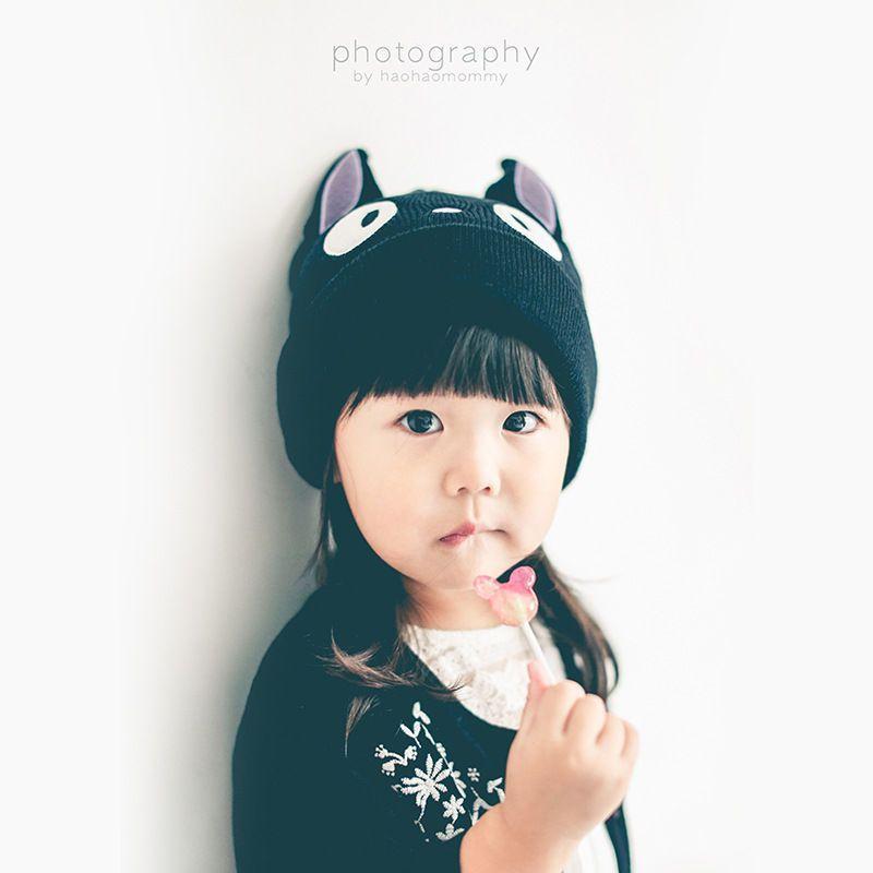 Kids Cat Knit Beanie