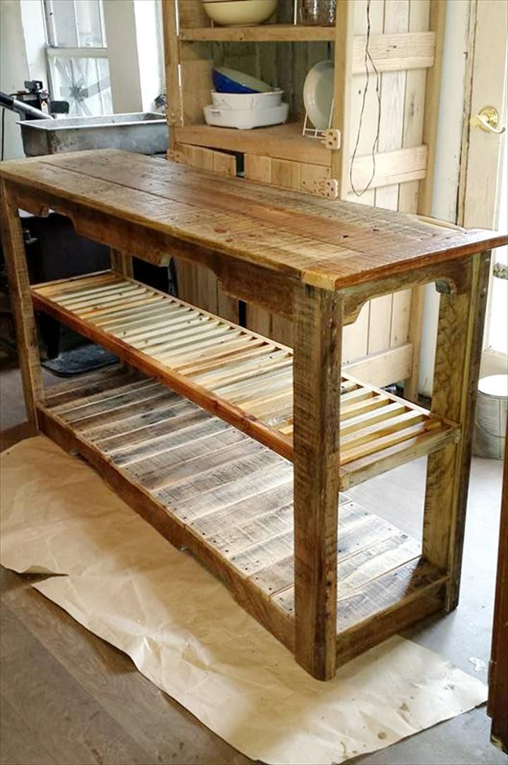 Multipurpose Wooden Pallet Console Table