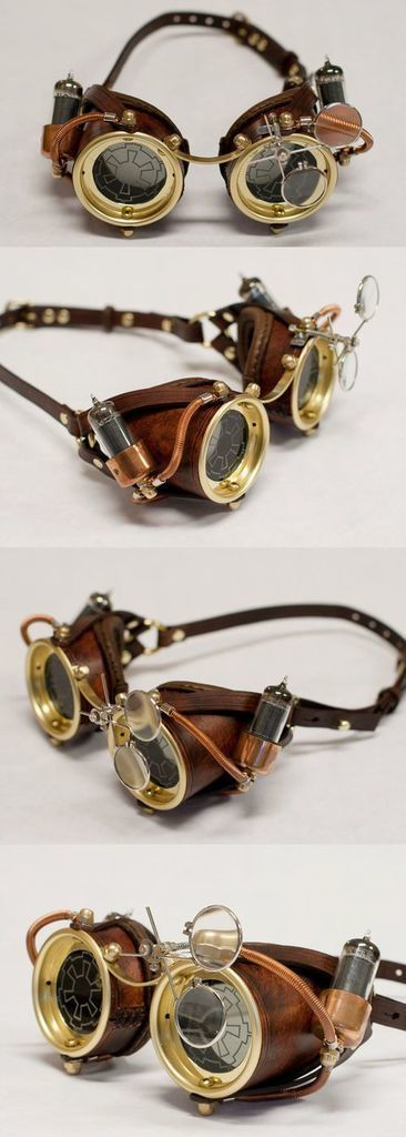 Steampunk Goggles – this style is so how i imagined His Dark Materials by Philip Pullman