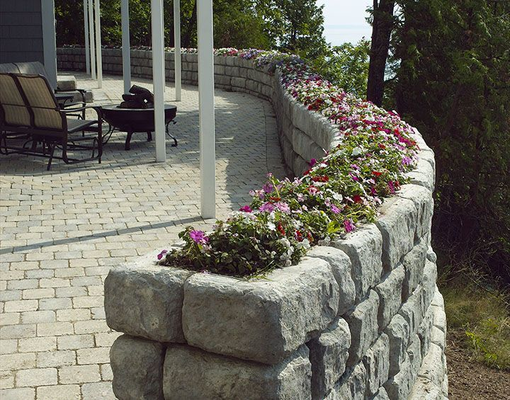 Wall Planters For Outside Found On Redi Rock Com Free