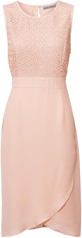 Standesamt: Kleid in Wickeloptik mit Spitze in Rose in ...
