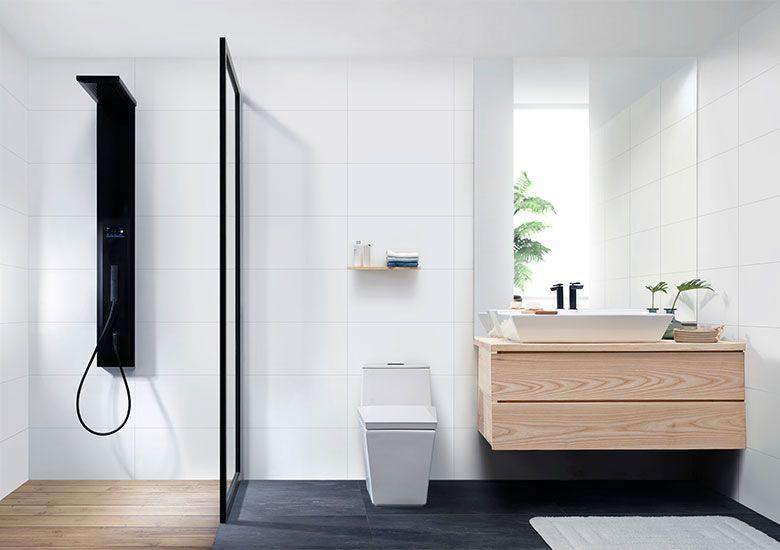 ห องน ำ แบบห องน ำ รวมไอเด ยแต งห องน ำสวย Cotto Minimalist Bathroom Design Transitional Bathroom Design Minimalist Interior Design