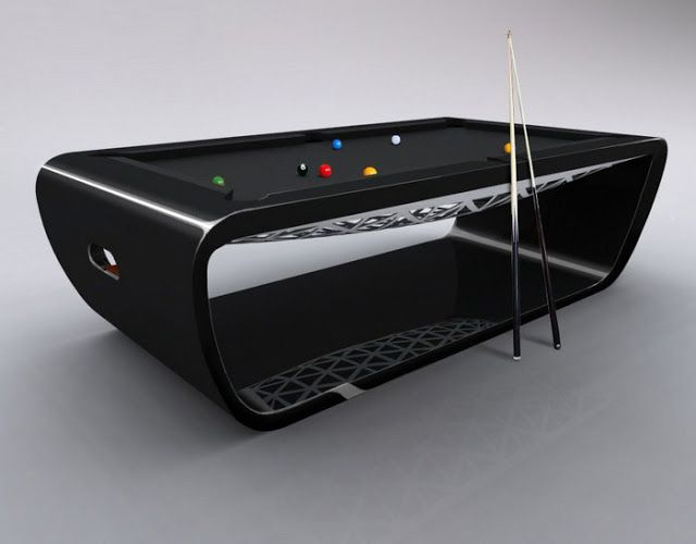 If It\'s Hip, It\'s Here: Black Light Billiard Tables by Toulet. Tons ...