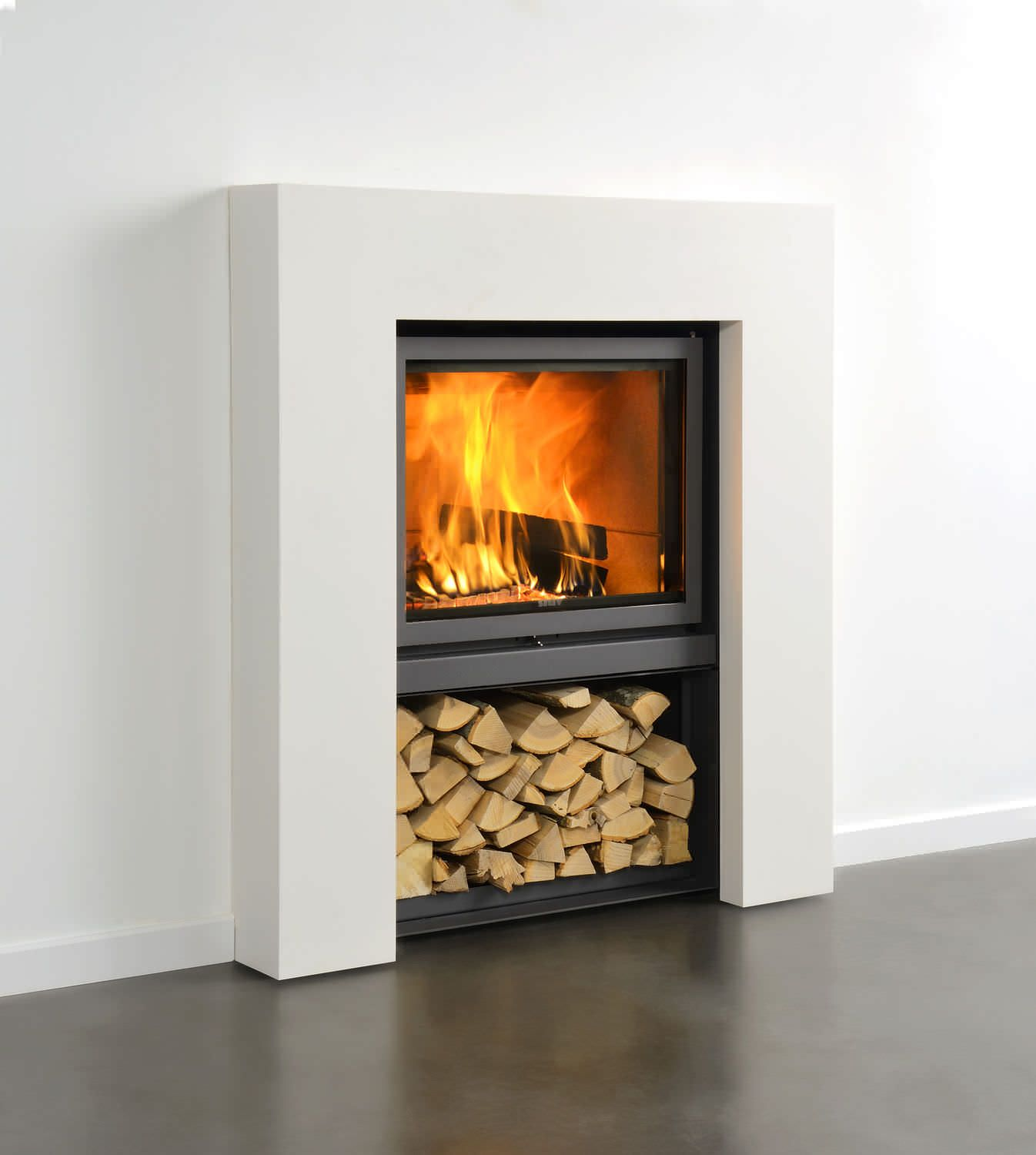 the stûv 21 wood burning fireplace insert with retractable glass