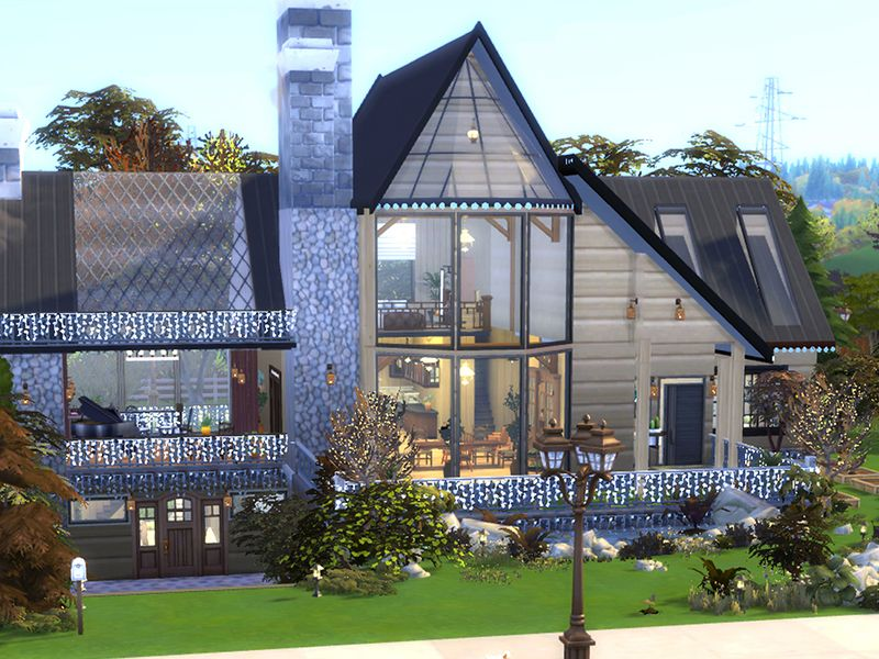 A Modern Eco House For Your Botanica Sims Found In Tsr Category Sims 4 Residential Lots Sims House Sims 4 Houses Sims House Design