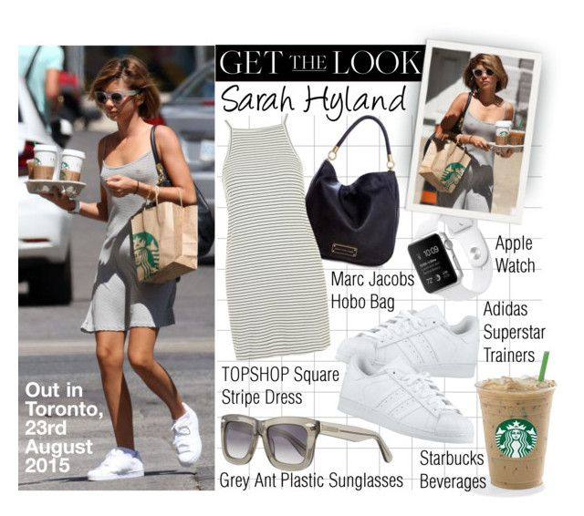 """""""Get The Look- Sarah Hyland"""" by jumping-through-hoops ❤ liked on Polyvore featuring Marc by Marc Jacobs, adidas Originals, Topshop and Grey Ant"""