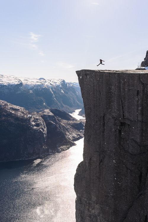 "wondrousworld: ""Trolltunga, Odda, Norway by Austin Rhee """