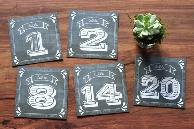 Chalkboard Wedding Table Numbers