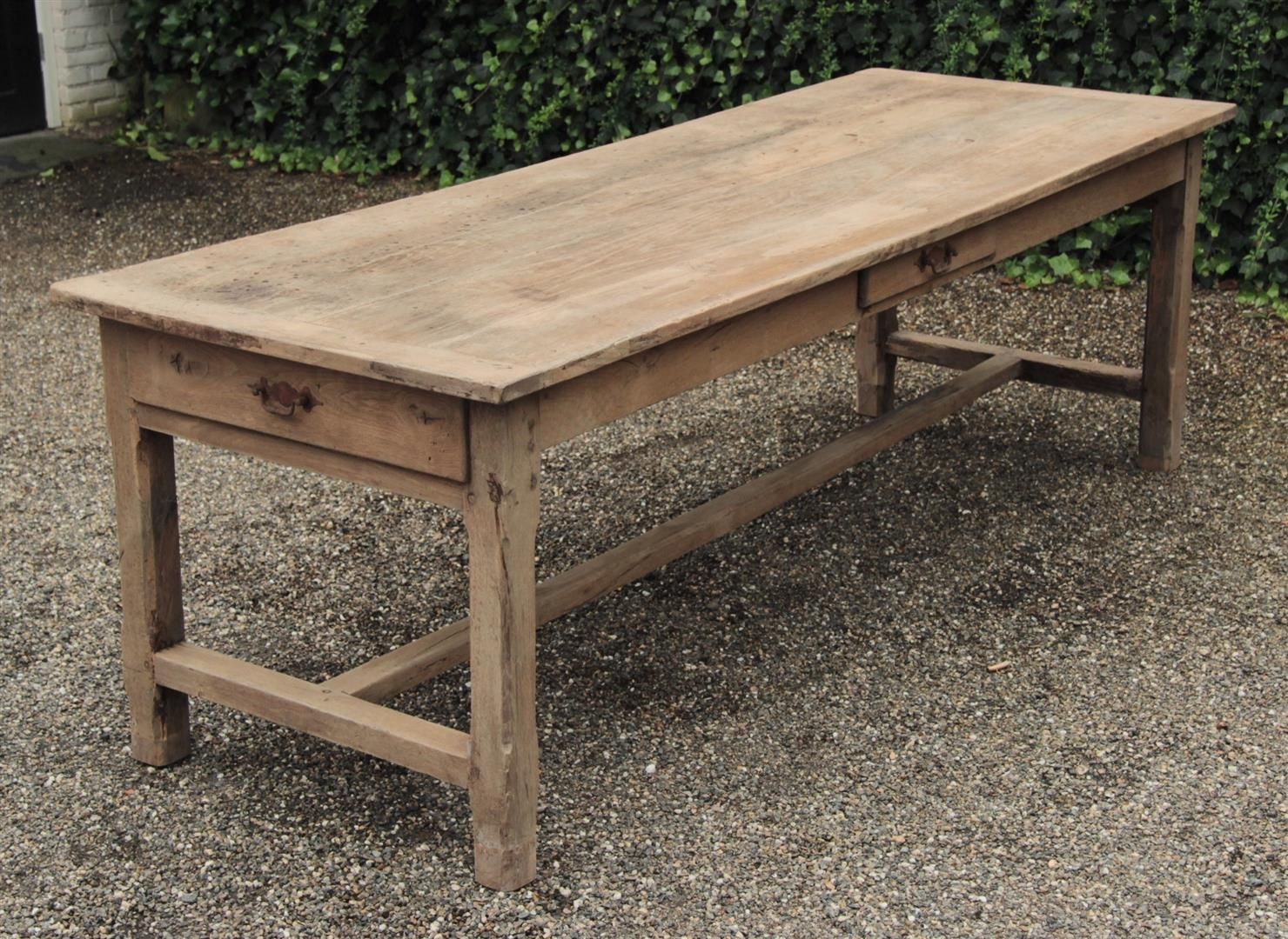 Antieke franse tafel eiken frankrijk 1830 19e eeuw table pinterest franse - Grote ronde houten tafel ...