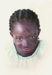 Niño de África 78 Lapices  Policromos sobre Cartulina Durex  35 x 50 cm 2013