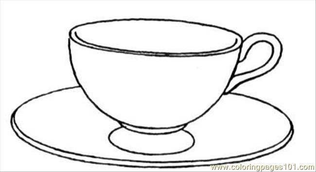 Cup And Saucer Coloring Page Free Kitchenware Coloring Pages Tea Cup Drawing Free Printable Coloring Pages Coloring Pages