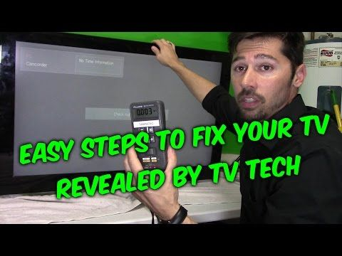 LED LCD TV FIX, How To For Samsung Double Image, Black Vertical