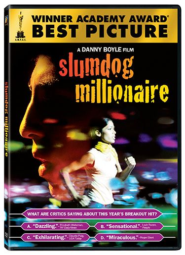 """The Indian orphan who goes all the way on """"Who Wants to Be a Millionaire"""".  Read the review at The Telegraph UK: http://www.telegraph.co.uk/culture/film/dvd-reviews/5394312/Slumdog-Millionaire-DVD-review.html"""