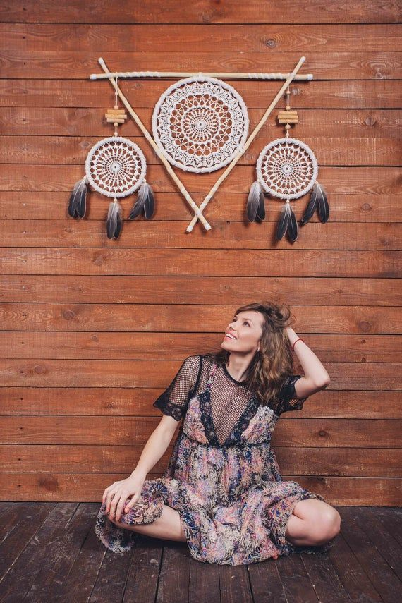 hygge wall art gift hippie decor large dreamcatcher wall on hygge wall decor id=31773